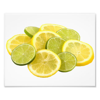Rebanadas del limón y de la cal fotografías