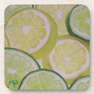 Rebanadas del limón y de la cal - práctico de cost posavasos