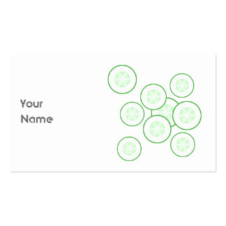Rebanadas del pepino plantilla de tarjeta personal