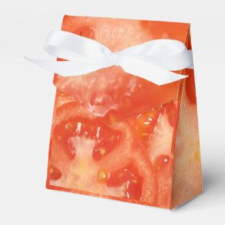 Rebanadas del tomate cajas para regalos de fiestas