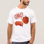 Rebanadas del tomate de OMG Playera