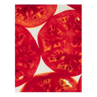 Rebanadas del tomate tarjetas postales