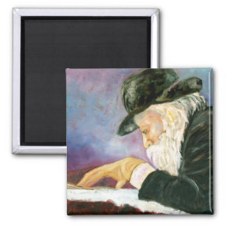 Rebbe 2 Inch Square Magnet