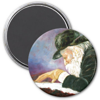 Rebbe 3 Inch Round Magnet