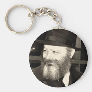 Rebbe Menachem Mendel Schneersohn Basic Round Button Keychain