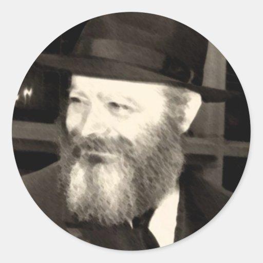 Rebbe Menachem Mendel Schneersohn Classic Round Sticker