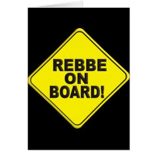 Rebbe on Board Greeting Card