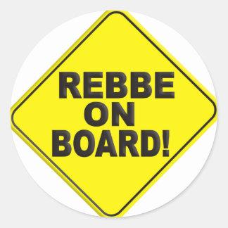 Rebbe on Board Classic Round Sticker