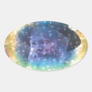 Rebbe Oval Sticker