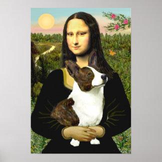 Rebeca del Corgi Galés - Mona Lisa Póster