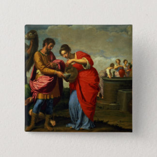 Rebecca and Eliezer at the Well, c.1626-27 Button