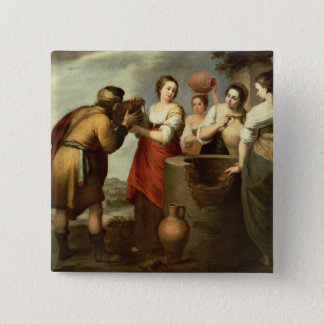 Rebecca and Eliezer at the Well, c.1665 Pinback Button