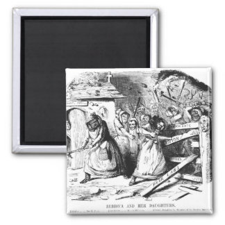 Rebecca and her Daughters 2 Inch Square Magnet
