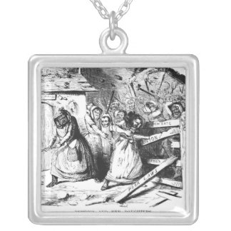 Rebecca and her Daughters Square Pendant Necklace