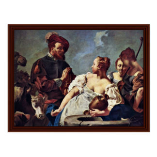 Rebecca At The Well By Piazzetta Giovanni Battista Post Cards