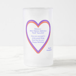 Rebecca Bible definition, Happy Birthday Frosted Glass Beer Mug