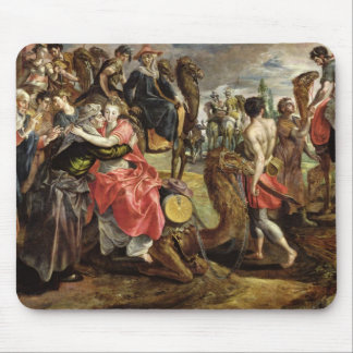 Rebecca Bidding Farewell to her Family, c.1562 Mouse Pad