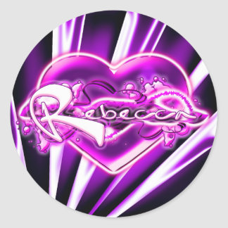 Rebecca Classic Round Sticker