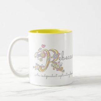 Rebecca decorative name and meaning mug