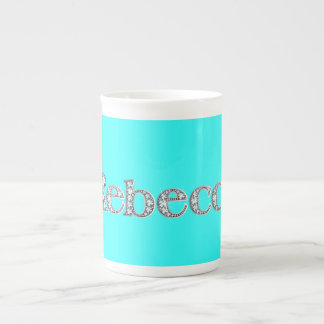 "Rebecca ""Diamond Bling"" Bone China Mug"