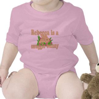 Rebecca es un conejito del Snuggle Traje De Bebé