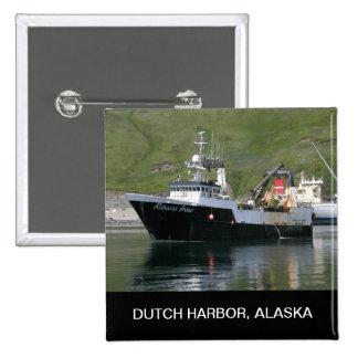 Rebecca Irene, Factory Trawler in Dutch Harbor, AK 2 Inch Square Button