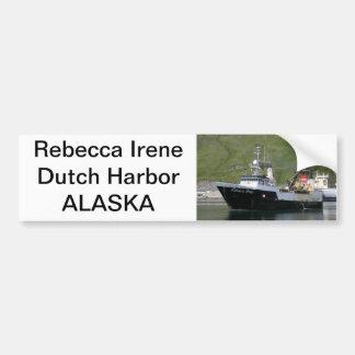 Rebecca Irene, Factory Trawler in Dutch Harbor, AK Car Bumper Sticker