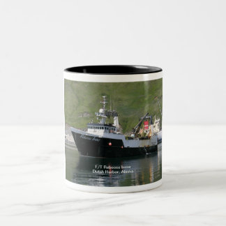 Rebecca Irene, Factory Trawler in Dutch Harbor, AK Two-Tone Coffee Mug