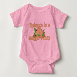 Rebecca is a Snuggle Bunny Baby Bodysuit