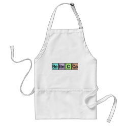 Apron with Rebecca made of Elements design