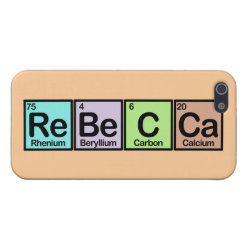 Case Savvy iPhone 5 Matte Finish Case with Rebecca made of Elements design