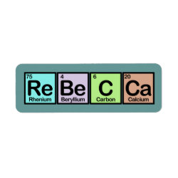 Return Label with Rebecca made of Elements design