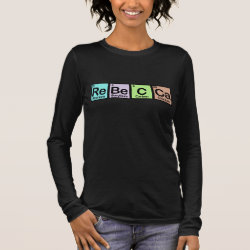 Women's Basic Long Sleeve T-Shirt with Rebecca made of Elements design