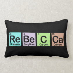 Throw Pillow Lumbar 13' x 21' with Rebecca made of Elements design