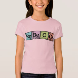 Girls' Bella+Canvas Fitted Babydoll T-Shirt with Rebecca made of Elements design