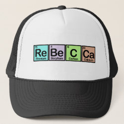 Trucker Hat with Rebecca made of Elements design