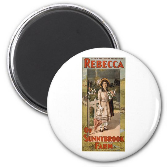 Rebecca of Sunnybrook Farm Stage Adaptation 1911 Magnet