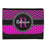 Rebecca Pink Polka Dot and ZigZag Chevrons Chic Wallet