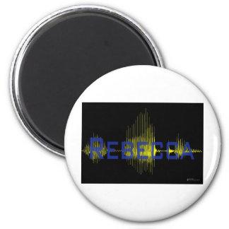 Rebecca Sononome Graphic Text 2 Inch Round Magnet