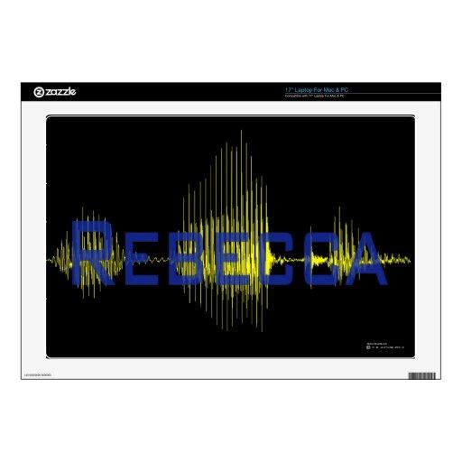 Rebecca Sononome Graphic Text Skin For Laptop
