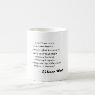 Rebecca West Feminist Quote on Mug