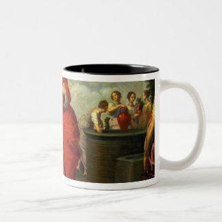 Rebecca y Eliezer en bien, c.1626-27 Taza De Café De Dos Colores