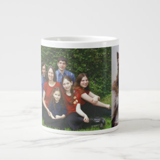 Rebekah's family and Mittens Large Coffee Mug