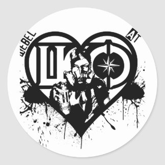Rebel At Heart Classic Round Sticker