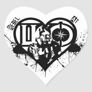 Rebel At Heart Heart Sticker