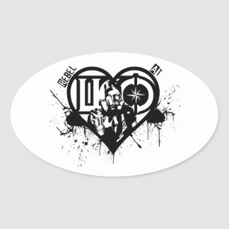 Rebel At Heart Oval Sticker