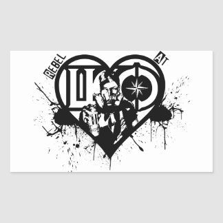 Rebel At Heart Rectangular Sticker