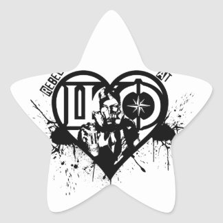 Rebel At Heart Star Sticker