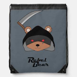 Rebel Bear Grim Reaper Drawstring Bag