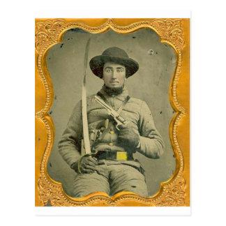 Rebel Calvalryman Postcards
